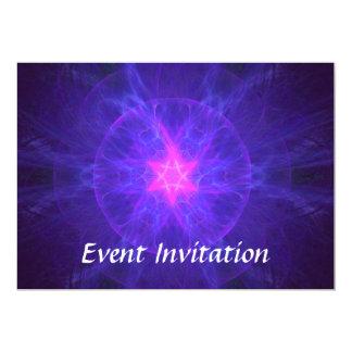 Pink Magen David 5x7 Paper Invitation Card