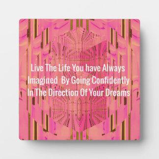 Pink Magenta Dimensional Patterned Affirmations Plaque