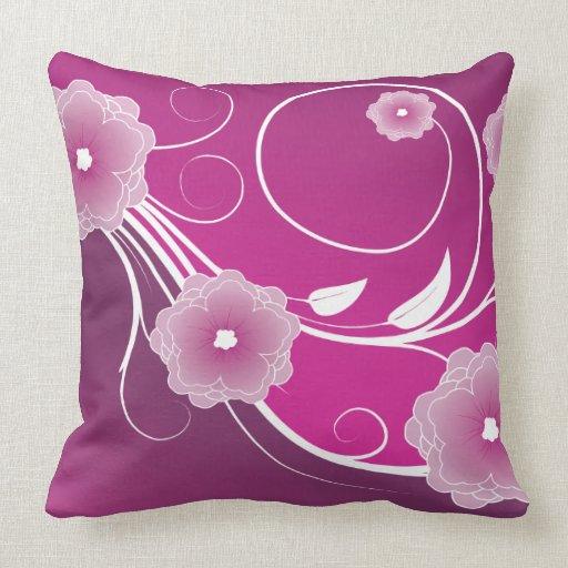 Pink Magenta Floral Swirl