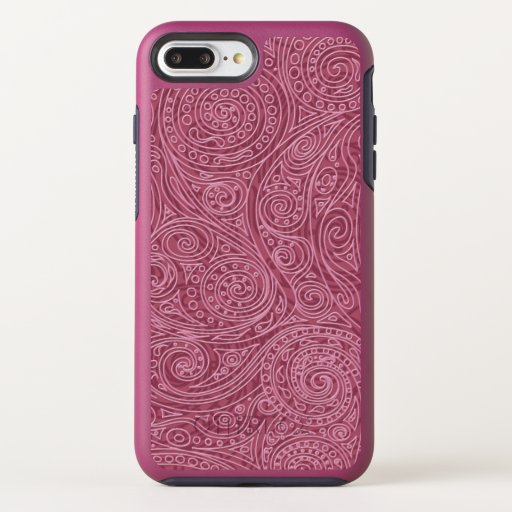 Pink Magic Spiral Pattern OtterBox Symmetry iPhone 8 Plus/7 Plus Case