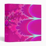 Pink Magma Fractal Art Binder
