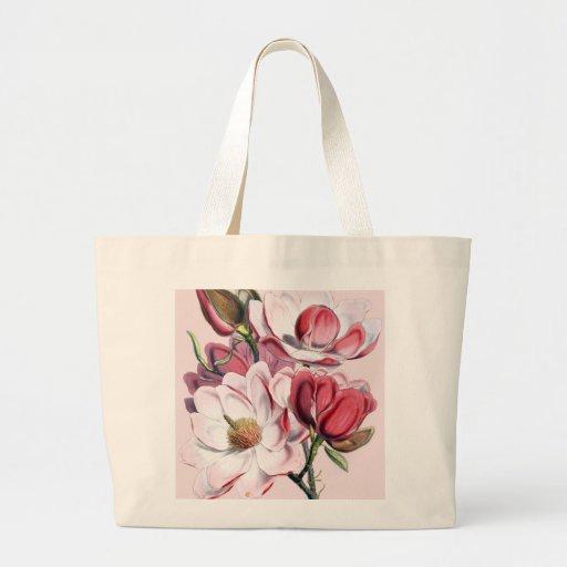 Pink Magnolia Canvas Bags
