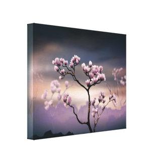 Pink Magnolia (Dark Version) Canvas Print