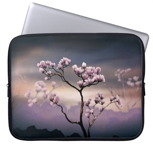 Pink Magnolia (Dark Version)  Laptop Bag Computer Sleeve