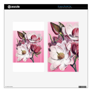 Pink Magnolia Decals For Kindle Fire