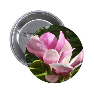Pink Magnolia Flower Button