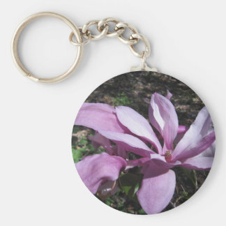 Pink Magnolia In Bloom Keychain