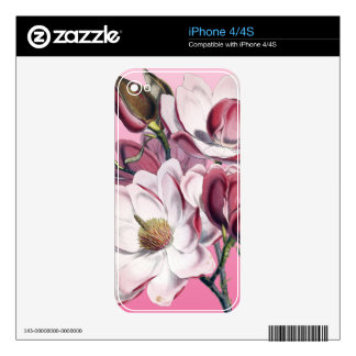 Pink Magnolia iPhone 4 Decal