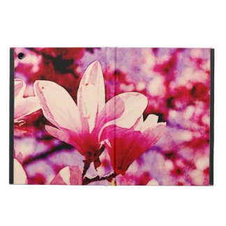 pink magnolia spring blooms on tree branches case for iPad air