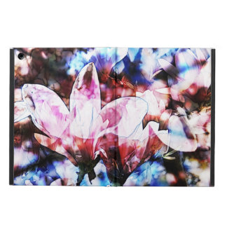 pink magnolia spring blooms on tree branches cover for iPad air