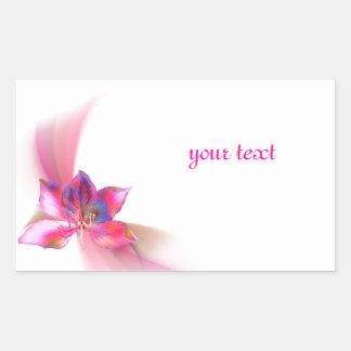 Pink magnolia theme stickers