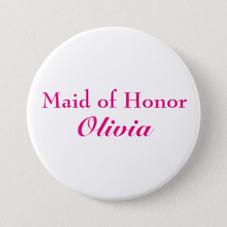 Pink Maid of Honor Button