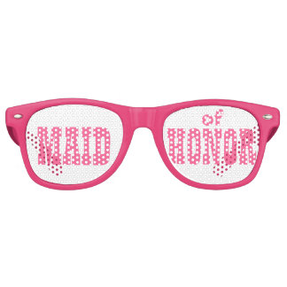 Pink Maid of Honor Swag Party Glasses Retro Sunglasses