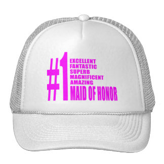 Pink Maids of Honor : Number One Maid of Honor Hat