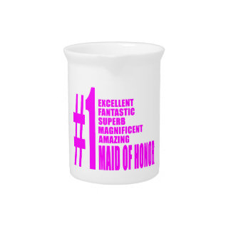 Pink Maids of Honor Number One Maid of Honor Drink Pitchers