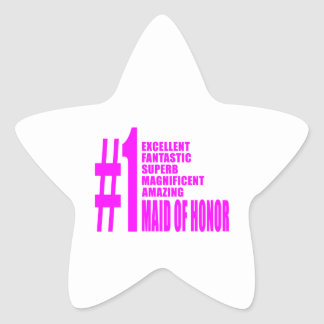 Pink Maids of Honor : Number One Maid of Honor Stickers