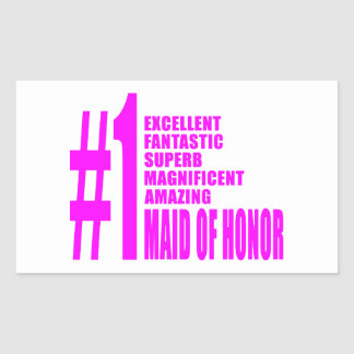 Pink Maids of Honor : Number One Maid of Honor Rectangular Stickers