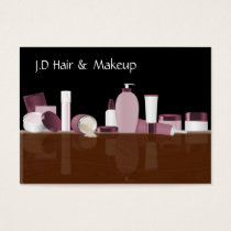 pink Makeup artist Business Cards