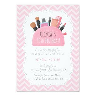 Makeup Party Invitations Zazzle