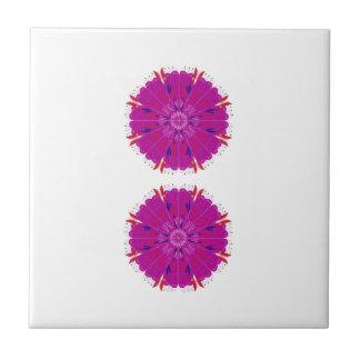 Pink mandala design / T-shirts Ceramic Tile