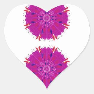 Pink mandala design / T-shirts Heart Sticker