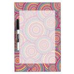 Pink Mandala Hippie Pattern Dry-Erase Whiteboard