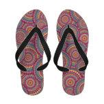 Pink Mandala Hippie Pattern Flip-Flops