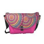 Pink Mandala Hippie Pattern Messenger Bags