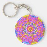 Pink Mandala Keychain