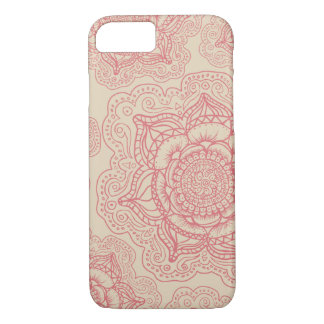 Pink Mandala Pattern iPhone 7 Case