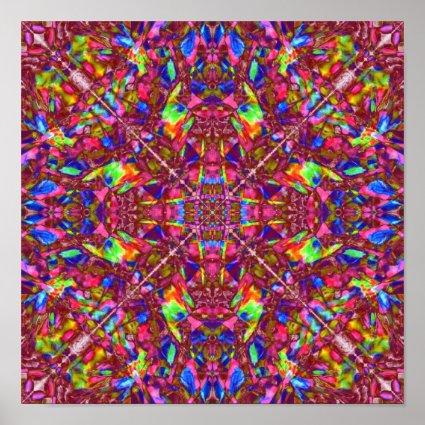 Pink Mandala Pattern Poster