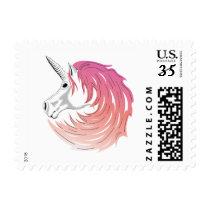 Pink Mane Unicorn Stamp