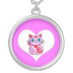 Pink Maneki Neko Lucky Beckoning Cat Jewelry