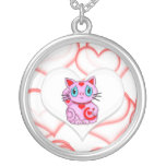 Pink Maneki Neko Lucky Beckoning Cat Custom Jewelry