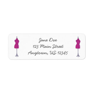 Pink Mannequin Fashion Design Dressform Labels