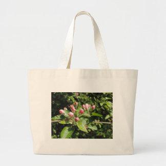 pink maple flowers product jumbo tote bag
