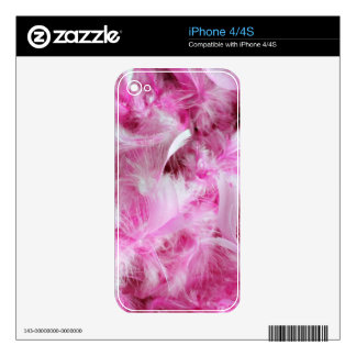 Pink Marabou Feathers iPhone 4 Skin