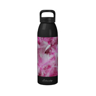 Pink Marabou Feathers Drinking Bottle
