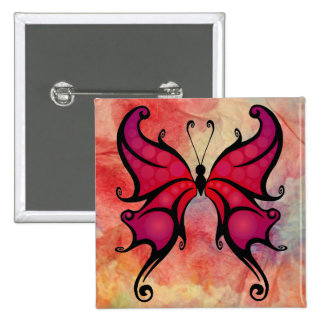 Pink Marble Butterfly Button