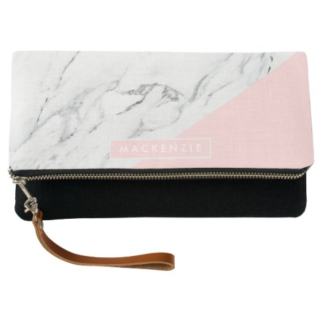 Pink & Marble Clutch