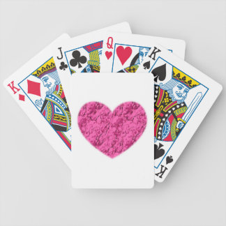 Pink Marble Heart Bicycle Playing Cards