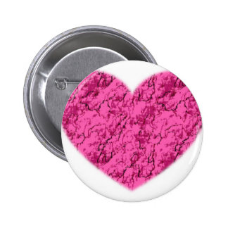 Pink Marble Heart Button