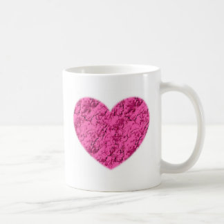 Pink Marble Heart Coffee Mug