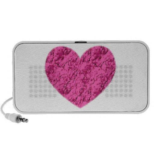 Pink Marble Heart Mini Speaker