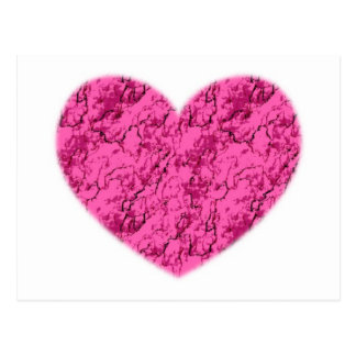 Pink Marble Heart Postcard