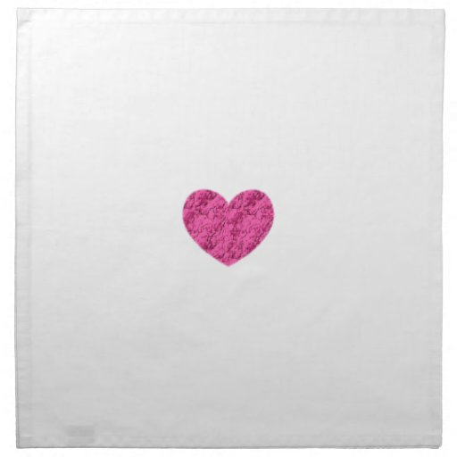 Pink Marble Heart Printed Napkin
