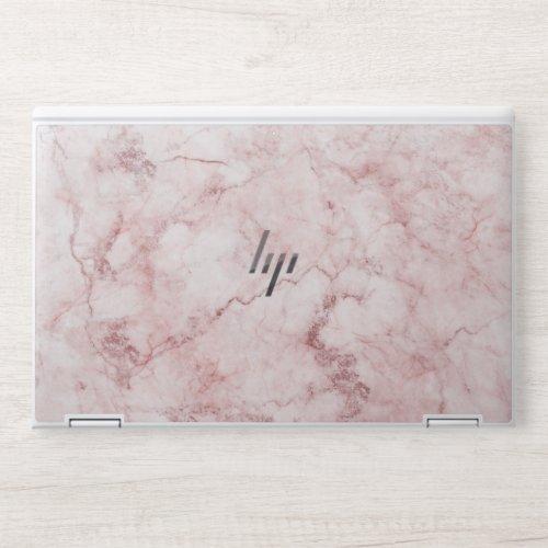 Pink Marble HP Laptop Skin
