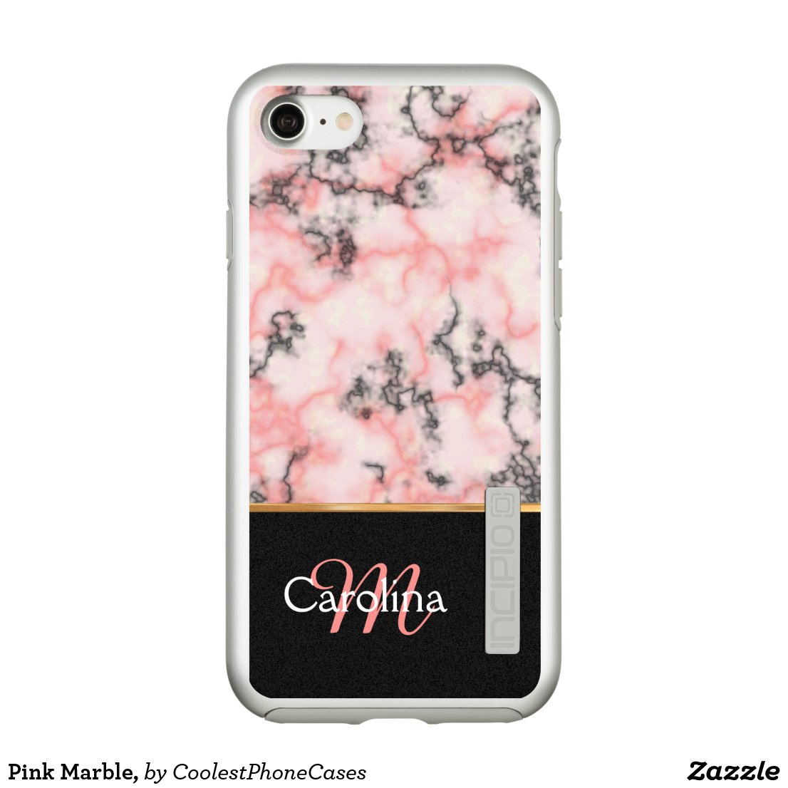 Pink Marble, Incipio DualPro Shine iPhone 7 Case