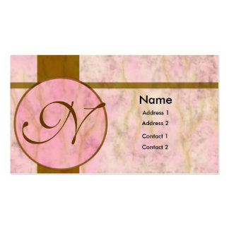 Pink Marble Inlay Business Card Template
