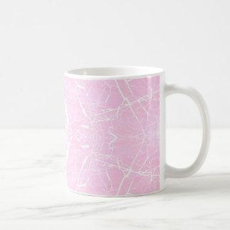 Pink marble pattern coffee mug
